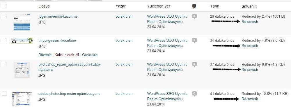 wordpress site hızlandırma wp-smush