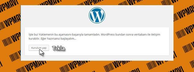 Wordpress Kurulumu Adım - 3