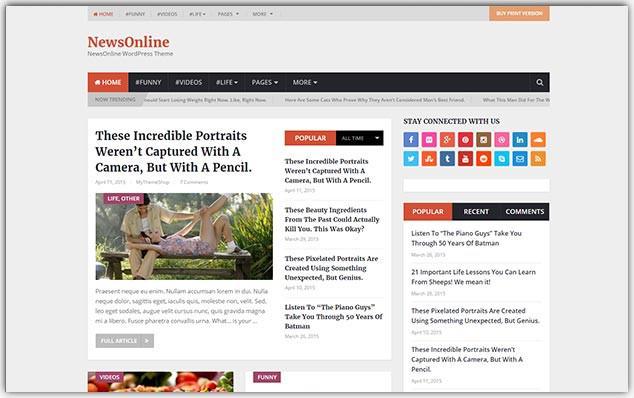 NewsOnline - Seo Uyumlu Haber Teması