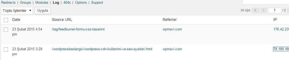Wordpress Yönlendirme Eklentisi - Redirection Kullanımı