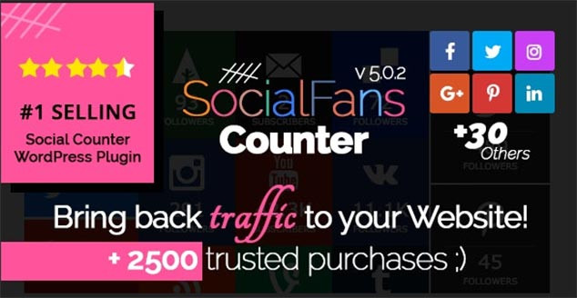 Social Fans Counter WordPress Sosyal Medya Takipçi Eklentisi