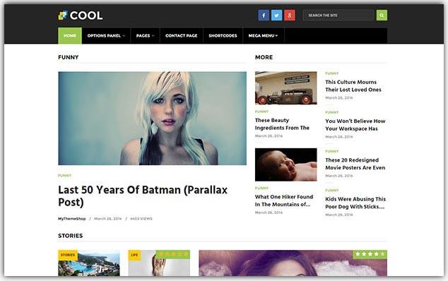 Cool - Seo Uyumlu Kadın Portal Teması