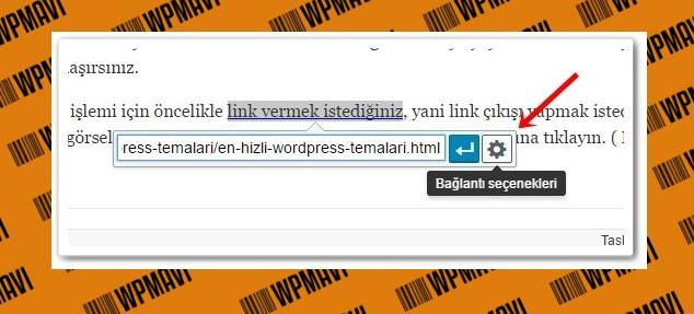 Wordpress Sayfaya Link Ekleme