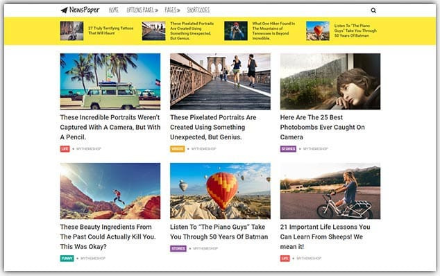 NewsPaper - Seo Uyumlu Gezi Blog Teması