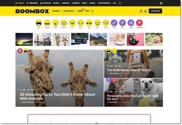 Boombox WordPress Sosyal Ağ Teması