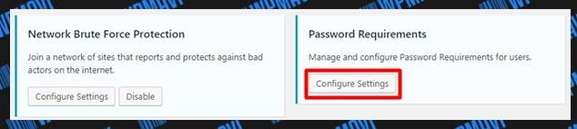 iThemes Security Ayarları Password Requirements Ayarları