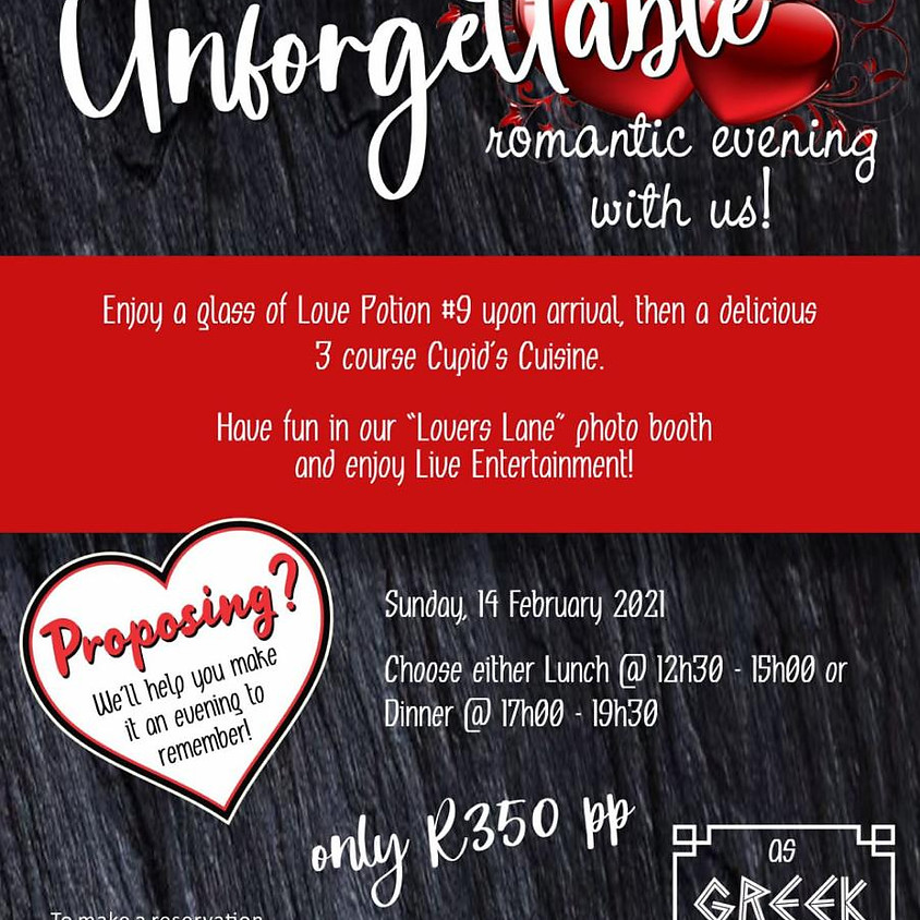 Valentines Day at As Greek As It Gets Pretoria