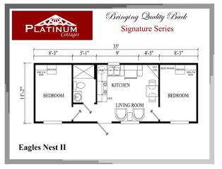 2 bedroom center living/kitchen.