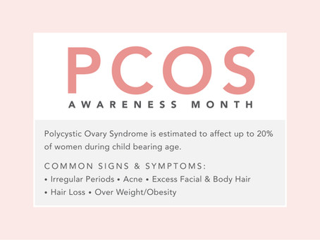 Did you know it's PCOS awareness month?