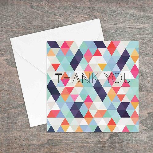 Thank you geometric greetings card