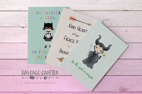 Fun and inspirational quote postcards / notecards - series 3.
