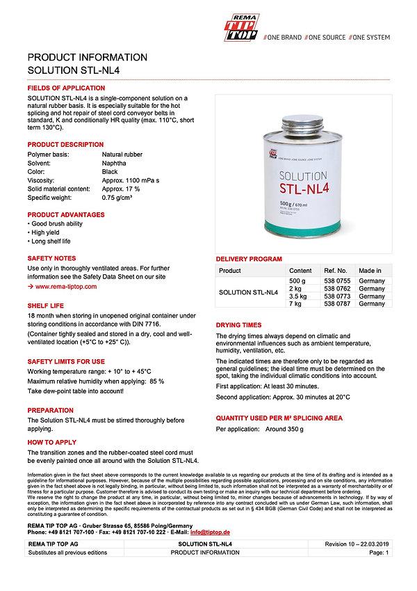STL-NL4 REMA TIP TOP Solution for steel