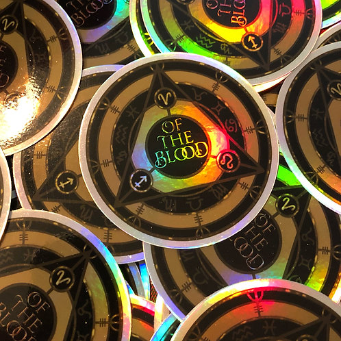 "3"" Of the Blood - holographic sticker"