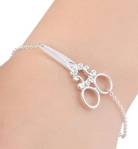 Scissors Bracelet - Silver