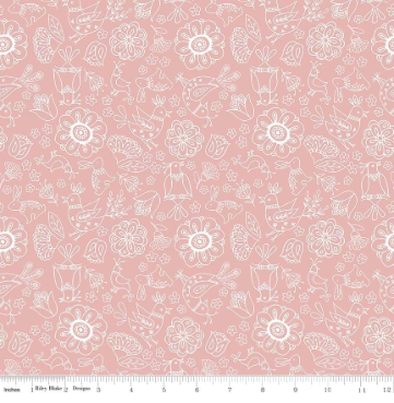 Dutch Treat Floral- Pink - By Penny Rose Fabric