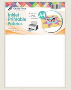 Matilda's Own Inkjet Printable Fabric 100% cotton