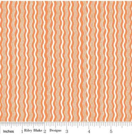 Hipster - Orange Stripe - By Riley Blake Design