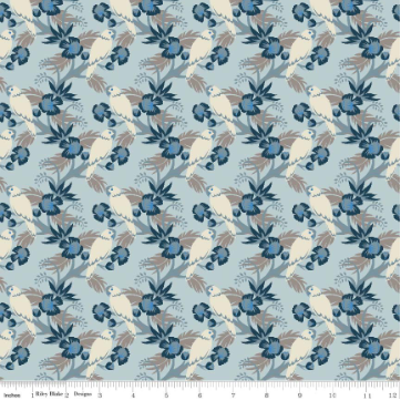 Forget me Knot- Birds Blue - By Sue Daley Designs