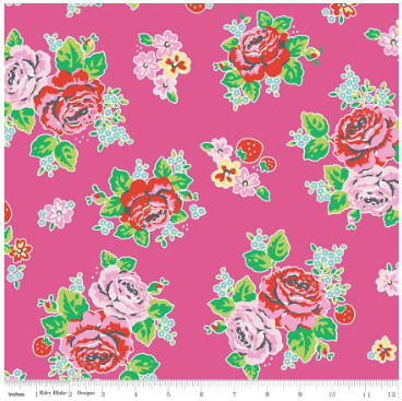 Strawberry Biscuit By Elea Lutz- For Penny Rose Fabrics PINK