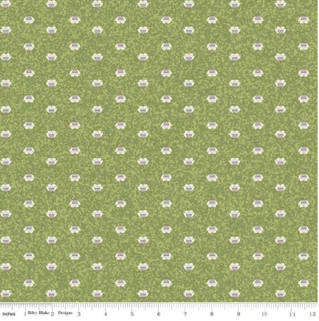 To Norway with Love - Green/Cream- By Sue Daley Designs