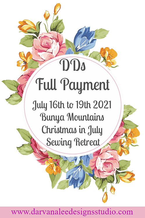 DDs Christmas in July Retreat Full Payment option