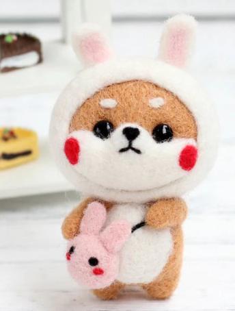 DIY Mini Wool Felt Animals - Rabbit