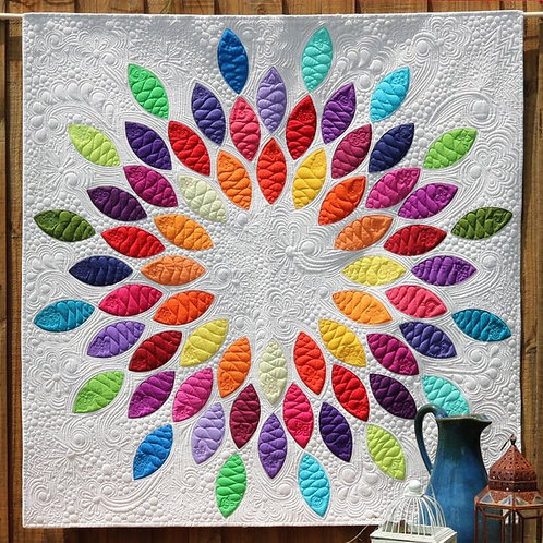 Seed Burst Quilt Pattern & Acrylic Template By Free Bird Quilting Designs