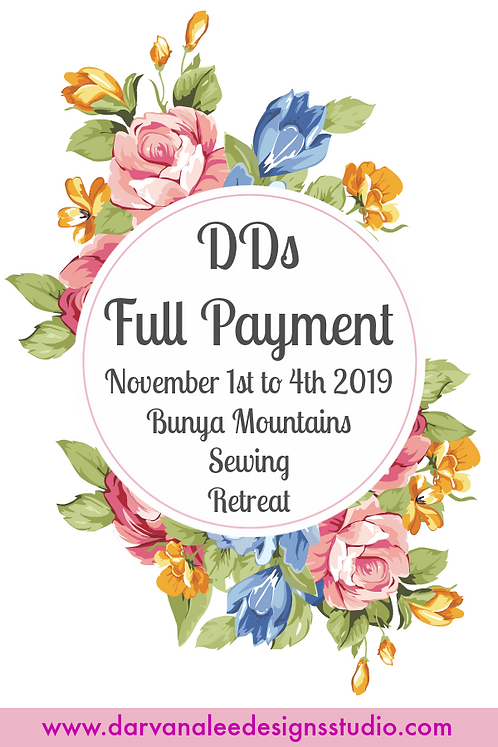 SOLD OUT DDs Bunya Mountain Bag & Quilt Retreat