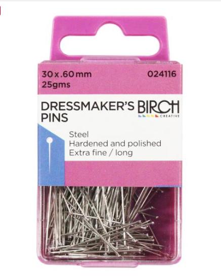 Birch Dressmaker's pins