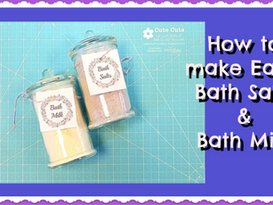 How to Make Easy Bath Salts and Bath Milk with Darvanalee Designs Studio