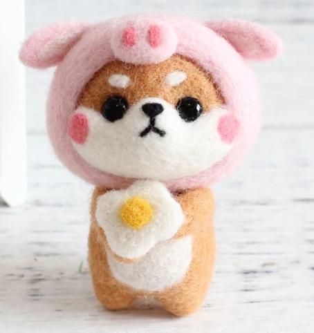 DIY Mini Wool Felt Animals Pig