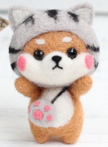 DIY Mini Wool Felt Animals - Cat