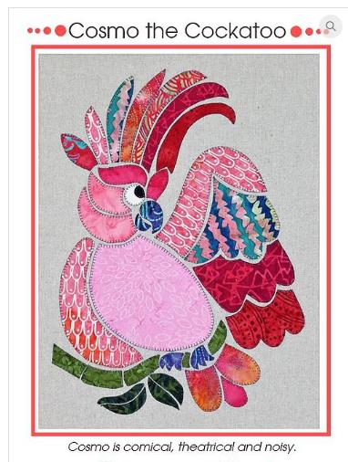 Cosmo the Cockatoo - Monica Poole Designs