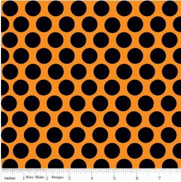Spooky Dot - Orange - By Riley Blake Designs