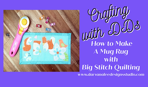 how to make a mug rug with big stitch qu