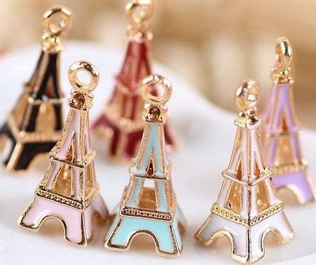 Zipper charms - Eiffel Tower