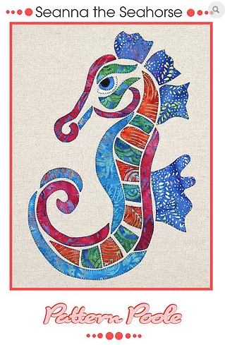 Seanna the Seahorse - Designed by Pattern Poole