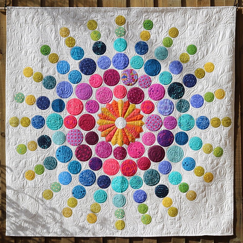 Radiating Circles - Designed by Carolyn Murfitt -Free Bird Designs