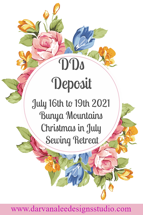 DDs Christmas in July Retreat Deposit Payment option