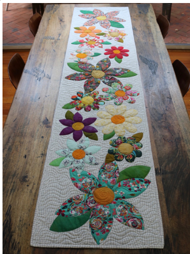 Blossoms Table Runner Pattern - Free Bird Quilting Designs