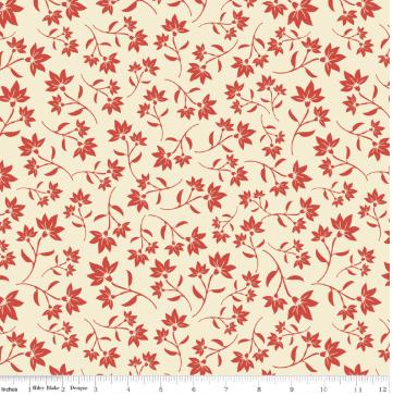 Fat Quarter -- Riley Blake Designs -- Serenata Petal - Red