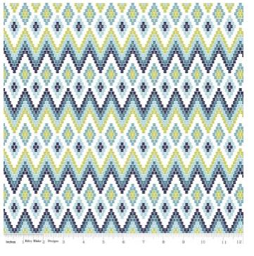 Juxta Posey Diamond - Aqua- Riley Blake Designs