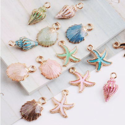 10mm Zipper Charms -Colourful Ocean Theme Charms - Various styles