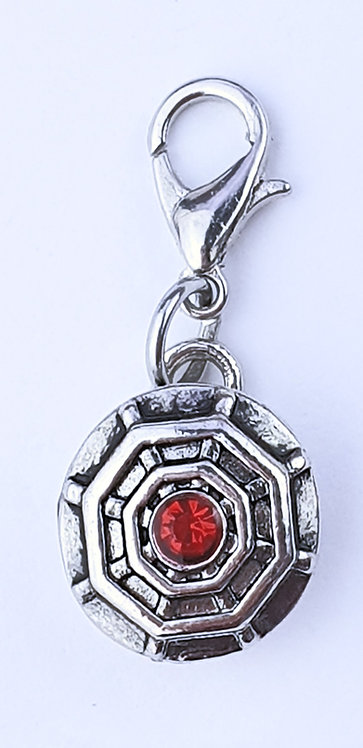 12mm Zipper charms - Red Crystal/spiderweb
