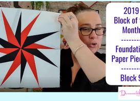 Darvanalee Designs Studio   2019 Foundation Paper Piecing Block of the Month   Block #9