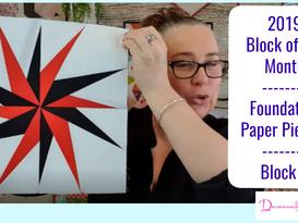 Darvanalee Designs Studio | 2019 Foundation Paper Piecing Block of the Month | Block #9