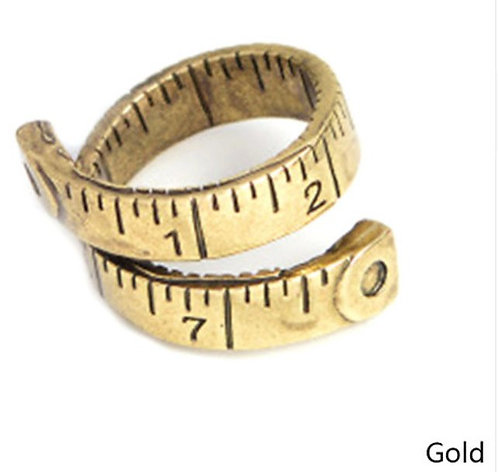 Tape measure Ring - Gold