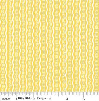 Hipster - Yellow Stripe - By Riley Blake Design