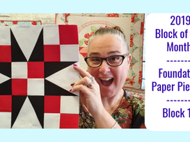 2019 Foundation Paper Piecing Block of the Month | Block #11