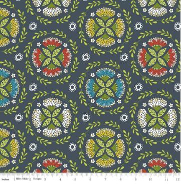 Dutch Treat Floral- Grey Wreath - By Penny Rose Fabric